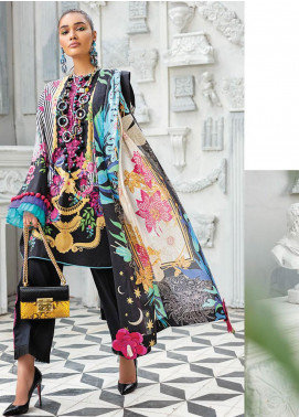 Zaha by Khadijah Shah Embroidered Lawn Unstitched 3 Piece Suit ZKS20L 6 - Spring / Summer Collection