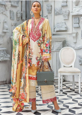 Zaha by Khadijah Shah Embroidered Lawn Unstitched 3 Piece Suit ZKS20L 7 - Spring / Summer Collection