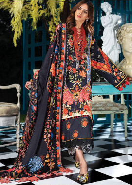 Zaha by Khadijah Shah Embroidered Lawn Unstitched 3 Piece Suit ZKS20L 8 - Spring / Summer Collection
