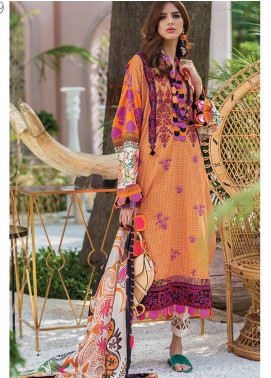 Zaha by Khadijah Shah Embroidered Lawn Unstitched 3 Piece Suit ZKS20L 9 - Spring / Summer Collection