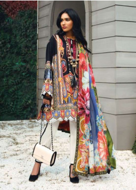 Zaha by Khadijah Shah Embroidered Lawn Unstitched 3 Piece Suit ZKS19L 18A HARA - Spring / Summer Collection