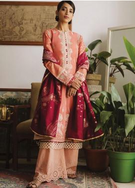 Zaha by Khadijah Shah Embroidered Lawn Unstitched 3 Piece Suit ZKS19CF 403 NUZHAT - Festive Collection