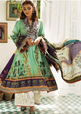 Zaha by Khadijah Shah Embroidered Lawn Unstitched 3 Piece Suit ZKS19F 09 BAHAR - Festive Collection