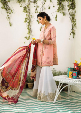Zaha by Khadijah Shah Embroidered Cotton Unstitched 3 Piece Suit ZKS19F 11 NAWRA - Festive Collection