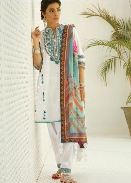 Zaha by Khadijah Shah Embroidered Lawn Unstitched 3 Piece Suit ZKS19F 12 LALEH - Festive Collection