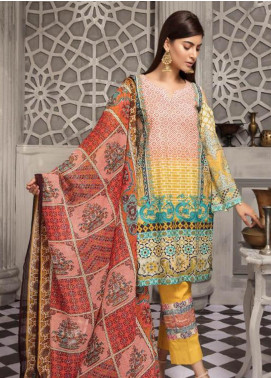 Zahra By Riaz Arts Printed Chikankari Unstitched 3 Piece Suit ZHR19CK 5 - Mid Summer Collection