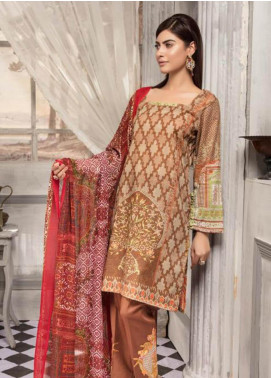 Zahra By Riaz Arts Printed Chikankari Unstitched 3 Piece Suit ZHR19CK 6 - Mid Summer Collection