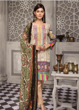 Zahra By Riaz Arts Printed Chikankari Unstitched 3 Piece Suit ZHR19CK 7 - Mid Summer Collection