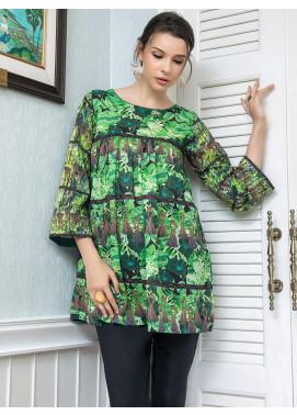 Zaibunnisa Printed Lawn Stitched Kurtis Ever Green