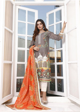 Zaibunnisa Printed Khaddar Unstitched 3 Piece Suit ZN20W 06 Mughal Dynasty - Winter Collection