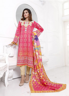 Zaibunnisa Printed Khaddar Unstitched 3 Piece Suit ZN20W 07 Pink Bliss - Winter Collection