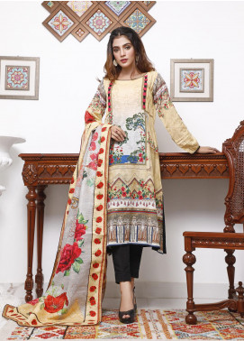 Zaibunnisa Printed Khaddar Unstitched 3 Piece Suit ZN20W 08 Planters - Winter Collection