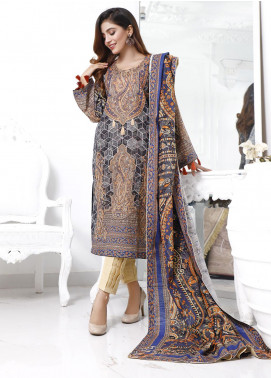 Zaibunnisa Printed Khaddar Unstitched 3 Piece Suit ZN20W 11 Baroque - Winter Collection