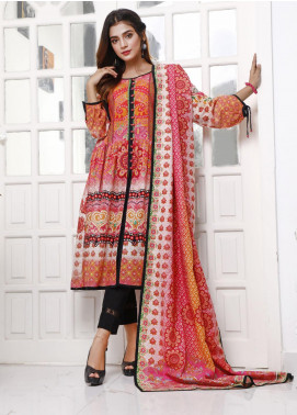 Zaibunnisa Printed Khaddar Unstitched 3 Piece Suit ZN20W 15 Chunri Mellow - Winter Collection