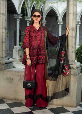 Zainab Chottani Embroidered Chikankari Unstitched 3 Piece Suit ZC19CK 1A VINTAGE FRENZY - Luxury Collection