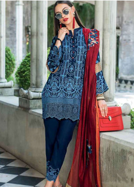 Zainab Chottani Embroidered Chikankari Unstitched 3 Piece Suit ZC19CK 1B VINTAGE FRENZY - Luxury Collection
