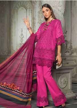 Zainab Chottani Embroidered Chikankari Unstitched 3 Piece Suit ZC19CK 2B URBAN OXIDE - Luxury Collection