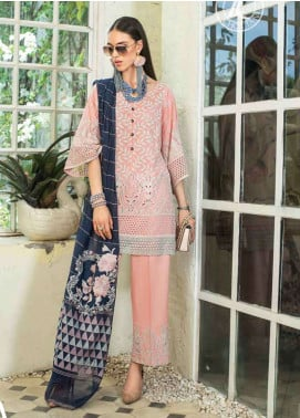 Zainab Chottani Embroidered Chikankari Unstitched 3 Piece Suit ZC19CK 3A BLUSH TALES - Luxury Collection