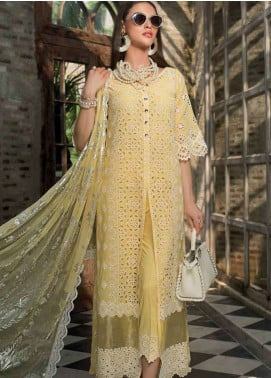 Zainab Chottani Embroidered Chikankari Unstitched 3 Piece Suit ZC19CK 6A PRISTINE POISE - Luxury Collection
