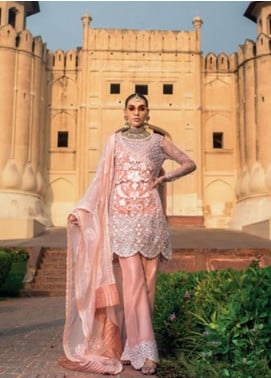 Zainab Chottani Embroidered Zari Net Unstitched 3 Piece Suit ZC19WF 01 MEHR - Wedding Collection