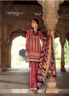 Zainab Chottani Embroidered Chiffon Unstitched 3 Piece Suit ZC19WF 02 RIWAYAT - Wedding Collection