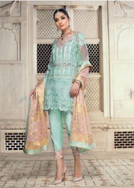 Zainab Chottani Embroidered Zari Net Unstitched 3 Piece Suit ZC19WF 06 PARISA - Wedding Collection