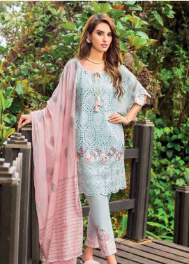 Zainab Chottani Embroidered Lawn Unstitched 3 Piece Suit ZC19L 10A SERENE MUSK - Spring / Summer Collection