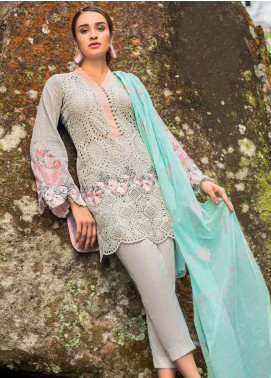 Zainab Chottani Embroidered Lawn Unstitched 3 Piece Suit ZC19L 10B SERENE MUSK - Spring / Summer Collection