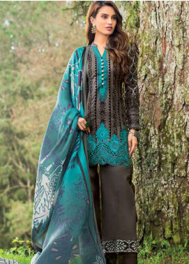 Zainab Chottani Embroidered Lawn Unstitched 3 Piece Suit ZC19L 6A FOREST ORCHID - Spring / Summer Collection