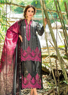 Zainab Chottani Embroidered Lawn Unstitched 3 Piece Suit ZC19L 6B FOREST ORCHID - Spring / Summer Collection