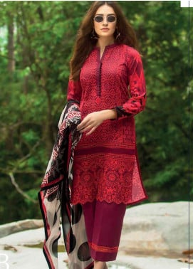 Zainab Chottani Embroidered Lawn Unstitched 3 Piece Suit ZC19L 7B MEERAH SUKA - Spring / Summer Collection