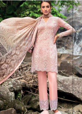 Zainab Chottani Embroidered Lawn Unstitched 3 Piece Suit ZC19L 8A PASTEL POISE - Spring / Summer Collection