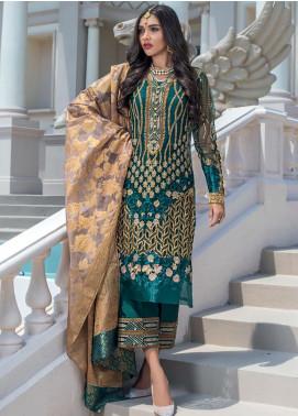 Zainab Chottani Embroidered Net Unstitched 3 Piece Suit ZC20WF 01 Ashna - Wedding Collection