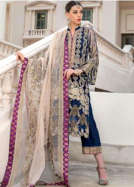 Zainab Chottani Embroidered Net Unstitched 3 Piece Suit ZC20WF 02 Ishq - Wedding Collection