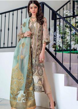 Zainab Chottani Embroidered Net Unstitched 3 Piece Suit ZC20WF 06 Jahaan - Wedding Collection