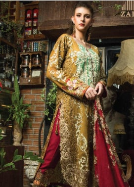 Zainab Qayoom Embroidered Chiffon Unstitched 3 Piece Suit ZQ19C 02 - Luxury Collection