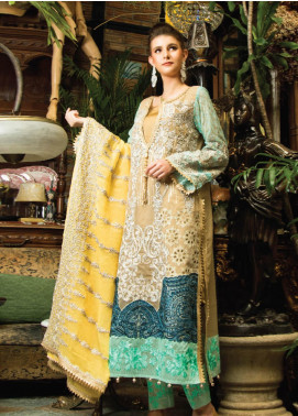 Zainab Qayoom Embroidered Chiffon Unstitched 3 Piece Suit ZQ19C 03 - Luxury Collection