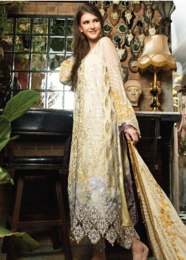 Zainab Qayoom Embroidered Chiffon Unstitched 3 Piece Suit ZQ19C 05 - Luxury Collection