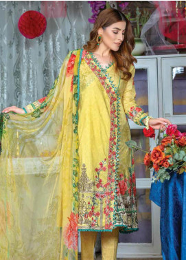Zara Ali by Magns Textiles Embroidered Lawn Unstitched 3 Piece Suit ZRA19F 1A - Festive Collection