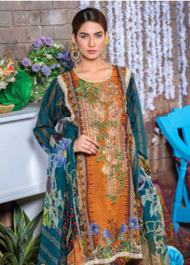 Zara Ali by Magns Textiles Embroidered Lawn Unstitched 3 Piece Suit ZRA19F 4A - Festive Collection