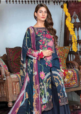 Zara Ali by Magns Textiles Embroidered Lawn Unstitched 3 Piece Suit ZRA19F 5 - Festive Collection
