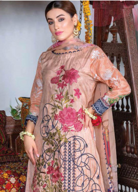 Zara Ali by Magns Textiles Embroidered Lawn Unstitched 3 Piece Suit ZRA19F 6 - Festive Collection