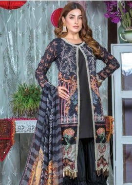 Zara Ali by Magns Textiles Embroidered Lawn Unstitched 3 Piece Suit ZRA19F 7B - Festive Collection