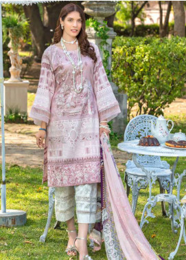 Zara Ali by Magns Textiles Embroidered Lawn Unstitched 3 Piece Suit ZRA20F 2A - Summer Collection
