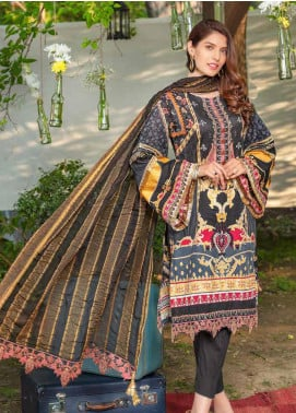 Zara Ali by Magns Textiles Embroidered Lawn Unstitched 3 Piece Suit ZRA20F 3A - Summer Collection