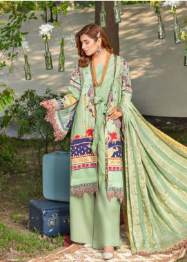 Zara Ali by Magns Textiles Embroidered Lawn Unstitched 3 Piece Suit ZRA20F 3B - Summer Collection