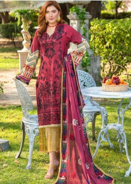 Zara Ali by Magns Textiles Embroidered Lawn Unstitched 3 Piece Suit ZRA20F 4A - Summer Collection