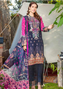 Zara Ali by Magns Textiles Embroidered Lawn Unstitched 3 Piece Suit ZRA20F 5A - Summer Collection