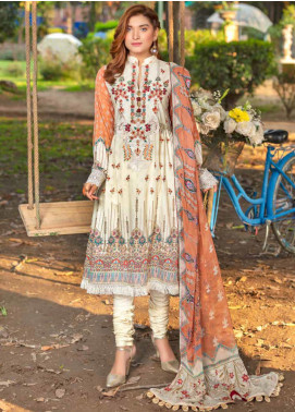 Zara Ali by Magns Textiles Embroidered Lawn Unstitched 3 Piece Suit ZRA20F 5B - Summer Collection