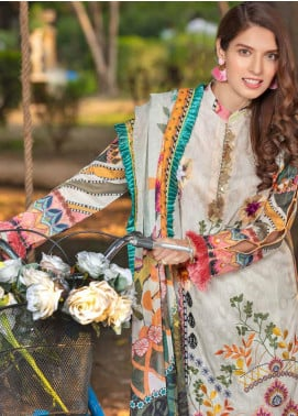 Zara Ali by Magns Textiles Embroidered Lawn Unstitched 3 Piece Suit ZRA20F 8B - Summer Collection